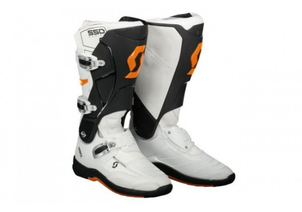 GHETE SCOTT MX 550 alb/portocaliu