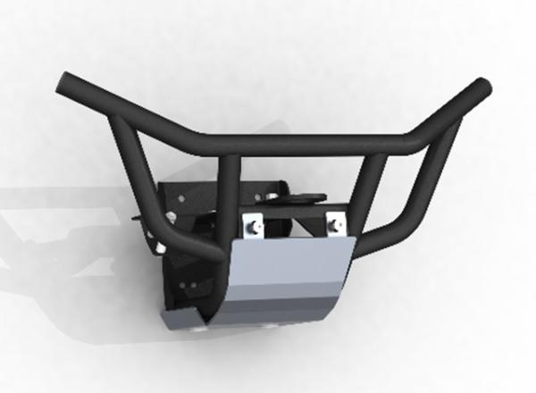 Bullbar fata cu placa montaj troliu SSV Can-Am Maverick X3